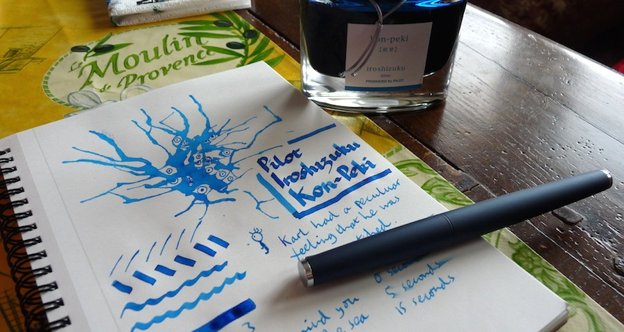 Pilot Iroshizuku Kon-Peki ink review