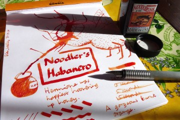 Noodlers Habanero ink review