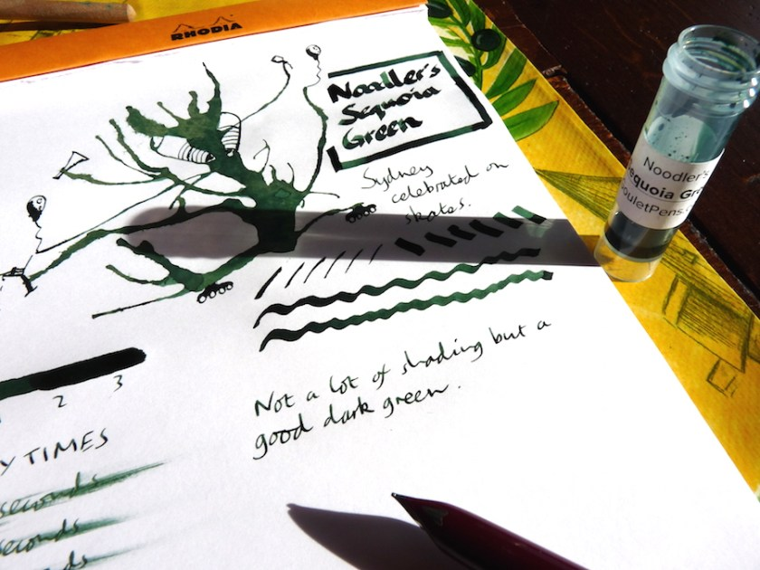 Noodlers Sequoia Green ink review