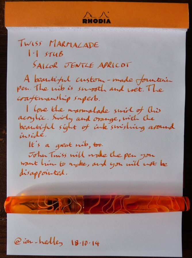 Twiss Marmalade handwritten review
