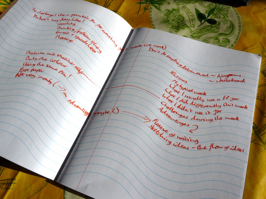 Inspiration Pad notebook in use