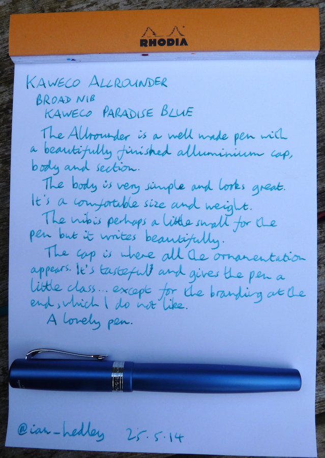 Kaweco Allrounder fountain pen handwritten review