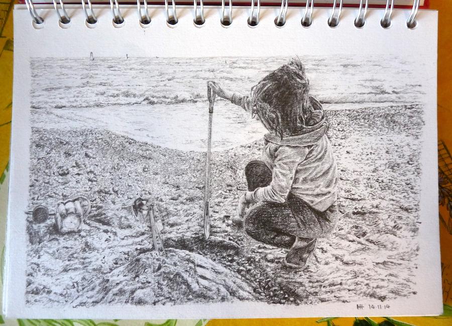 Ella's sandcastle