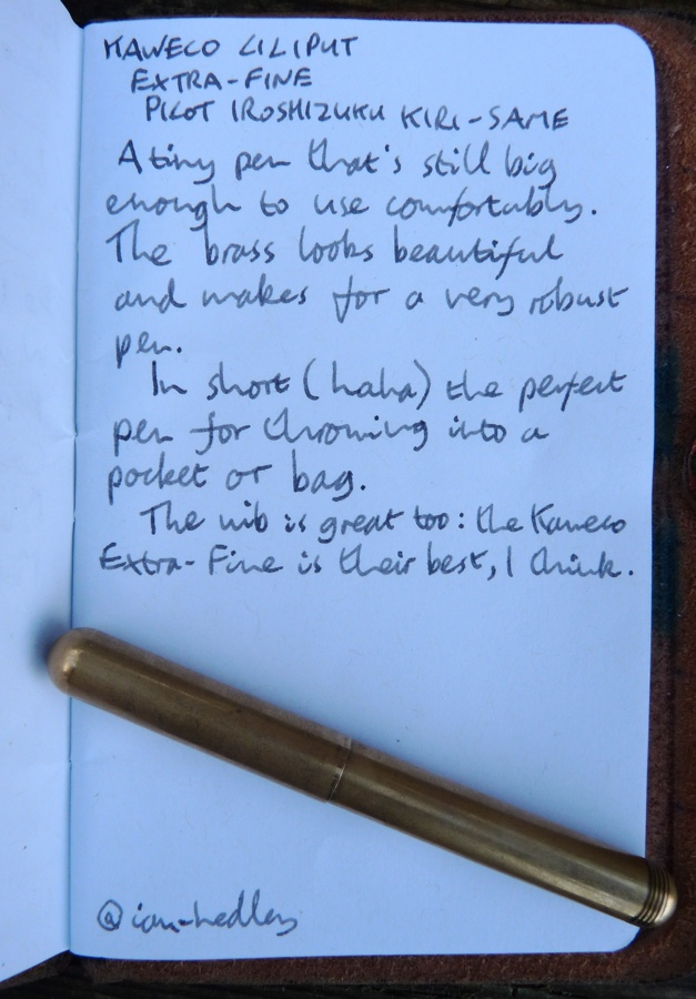 Kaweco Liliput handwritten review