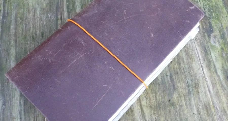 Midori Traveler's notebook closed