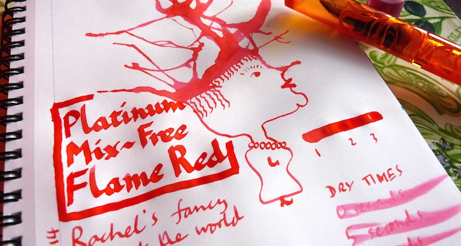 Platinum Mix-Free Flame Red ink review