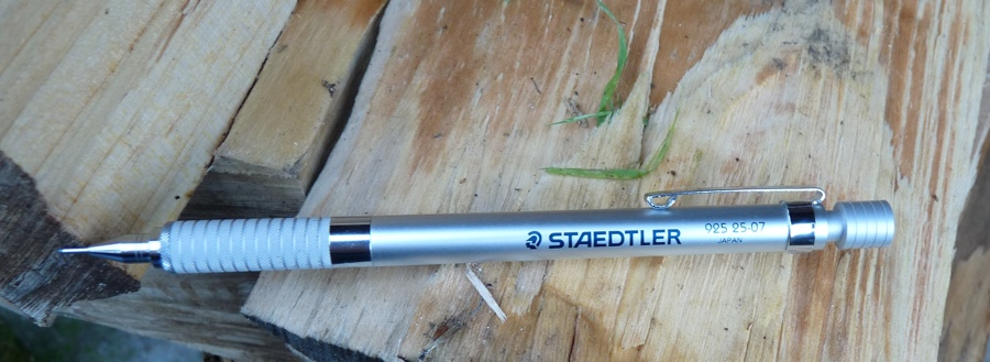 Staedtler 925 25-07 mechanical pencil full length with branding