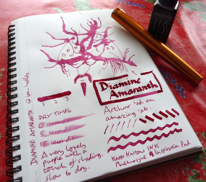 Diamine Amaranth ink review