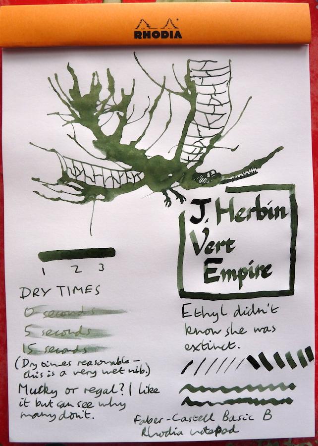 J Herbin Vert Empire Inkling doodle