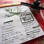 J Herbin Vert Empire ink review