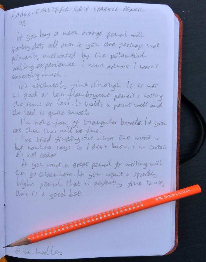 Faber-Castell Grip Sparkle handwritten review