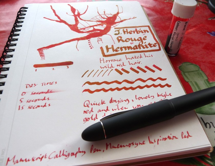 J Herbin Rouge Hematite ink review