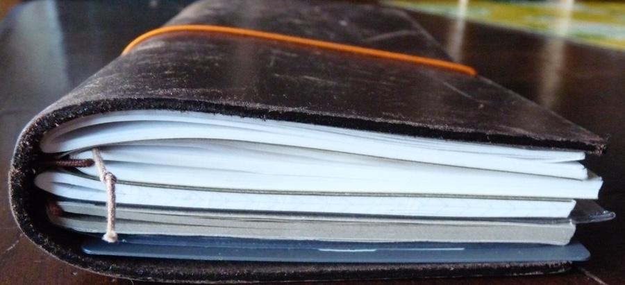 Midori Travelers Notebook fully loaded