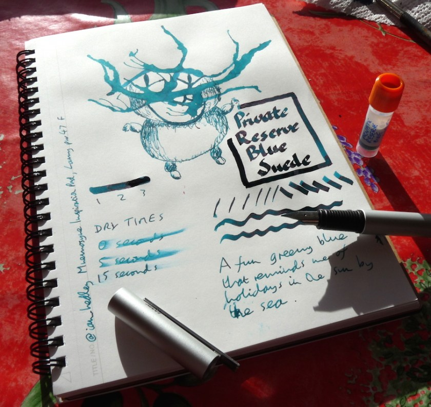 Private Reserve Blue Suede ink review
