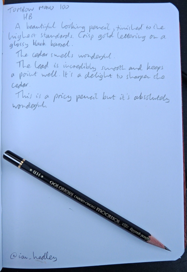 Tombow Mono 100 pencil handwritten review