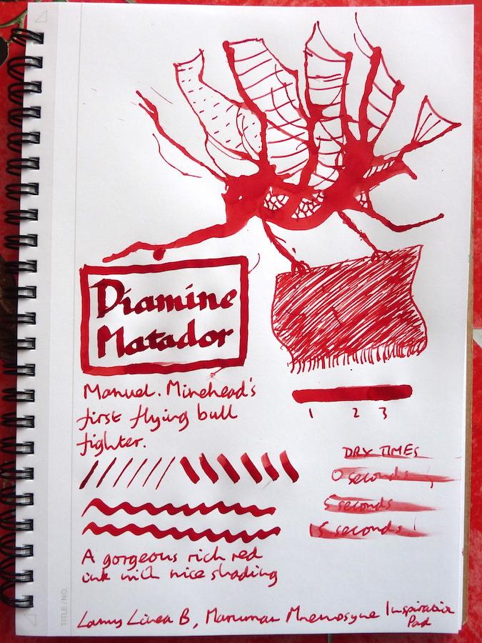 Diamine Matador Inkling doodle