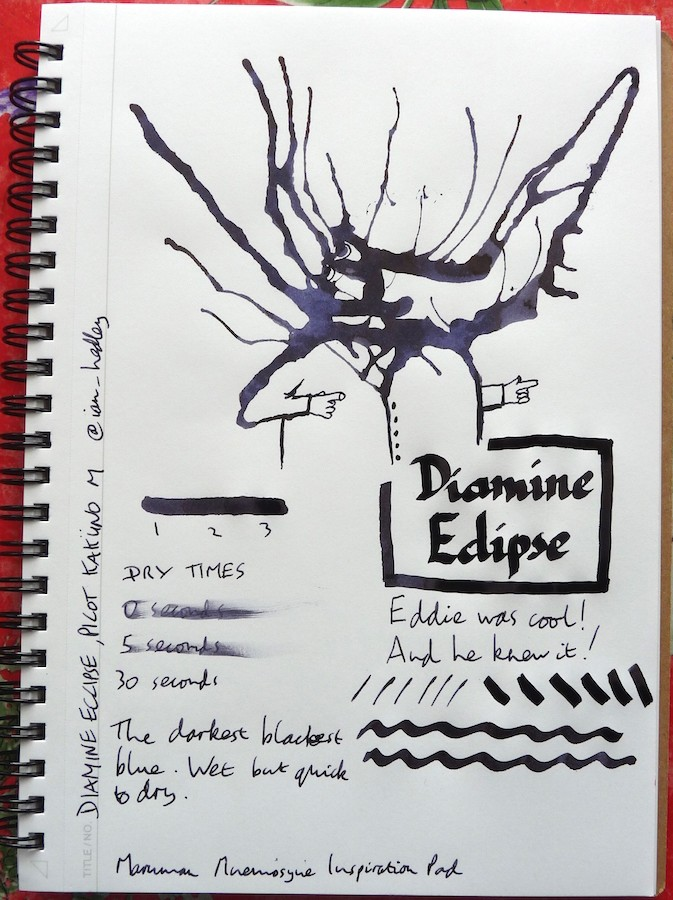 Diamine Eclipse Inkling review
