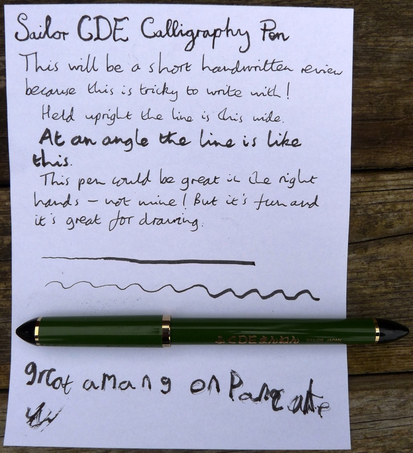 Sailor DE handwritten review
