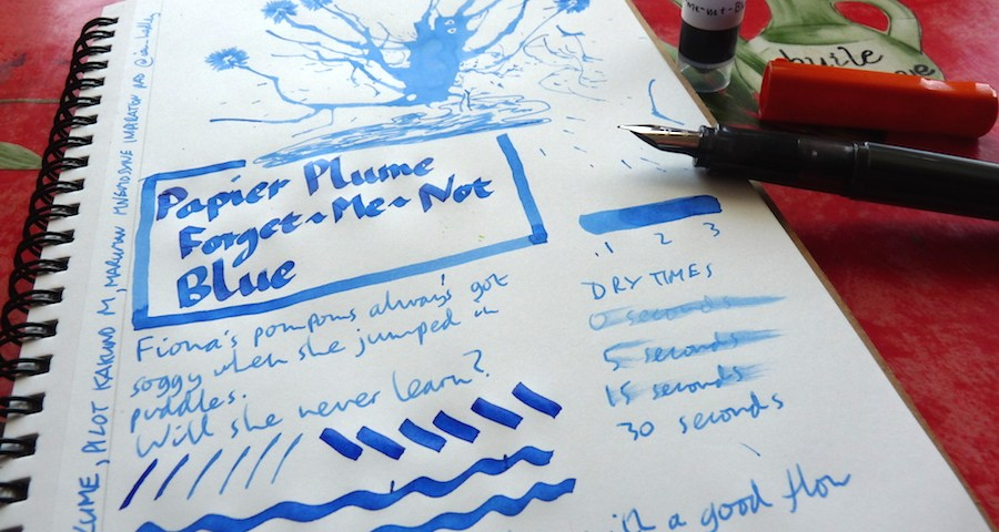 Papier Plume Forget-Me-Not Blue ink review