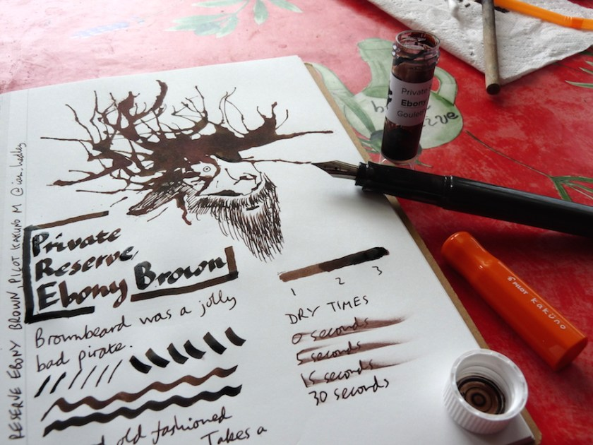 Private Reserve Ebony Brown ink review