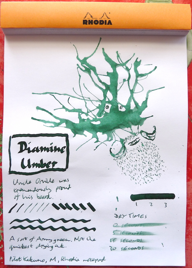 Diamine Umber Inkling doodle