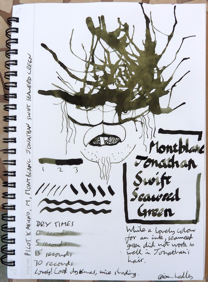 Montblanc Jonathan Swift Seaweed Green Ink Review Pens Paper Pencils