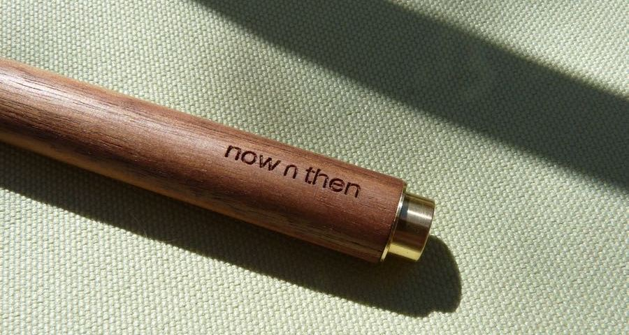 Now n Then Retro-Essential Pen branding