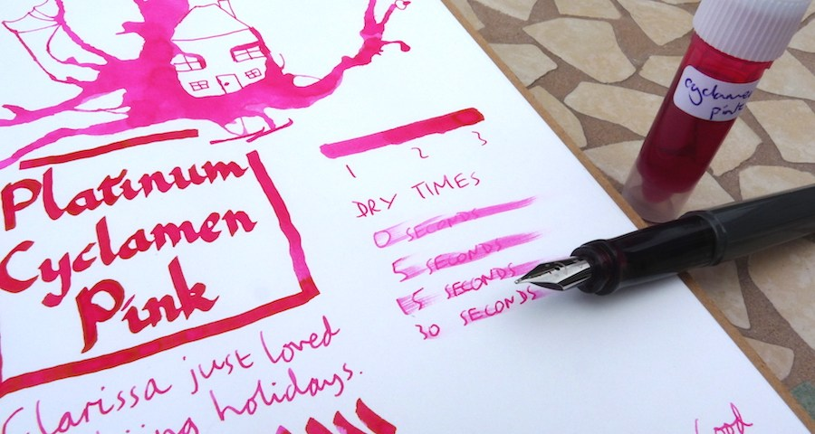 Platinum Mix-Free Cyclamen Pink ink review