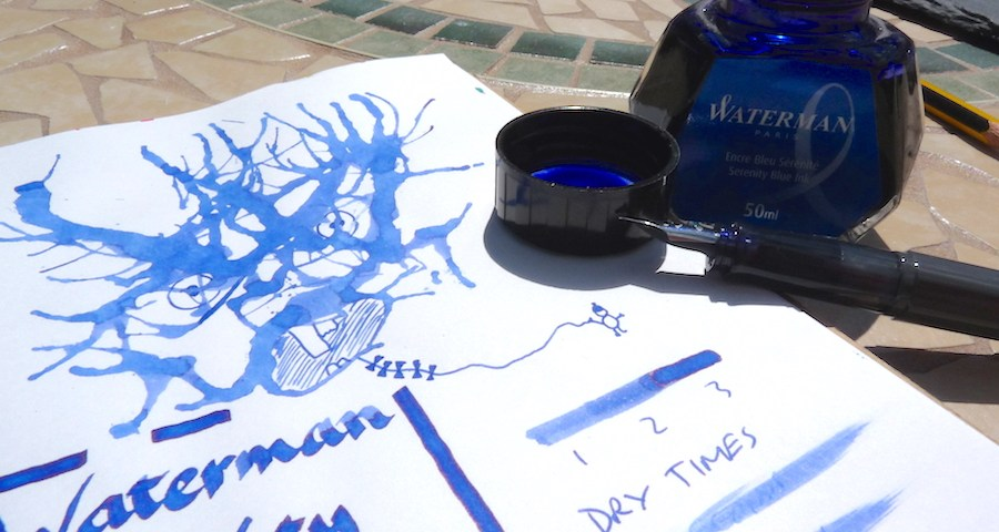 Waterman Serenity Blue ink review