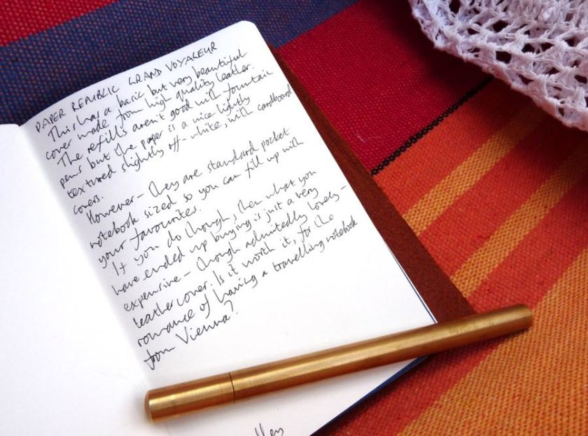 Paper Republic Grand Voyageur handwritten review