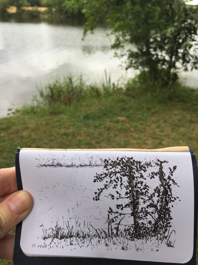 By a French lake