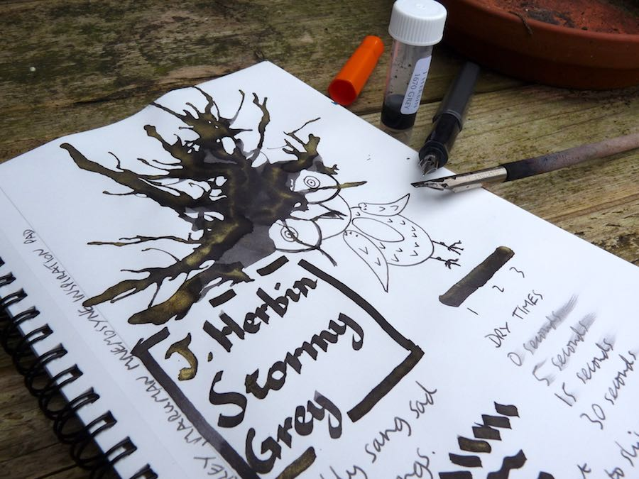 J Herbin Stormy Grey ink review