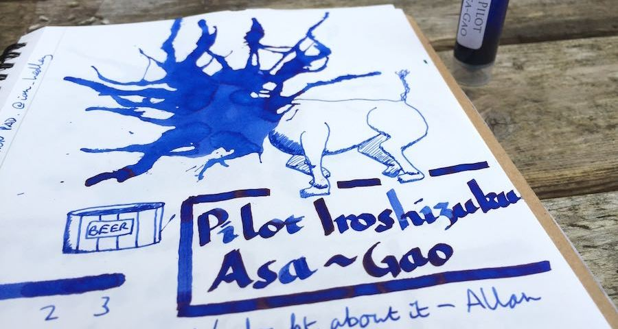 Pilot Iroshizuku Asa-Gao ink review