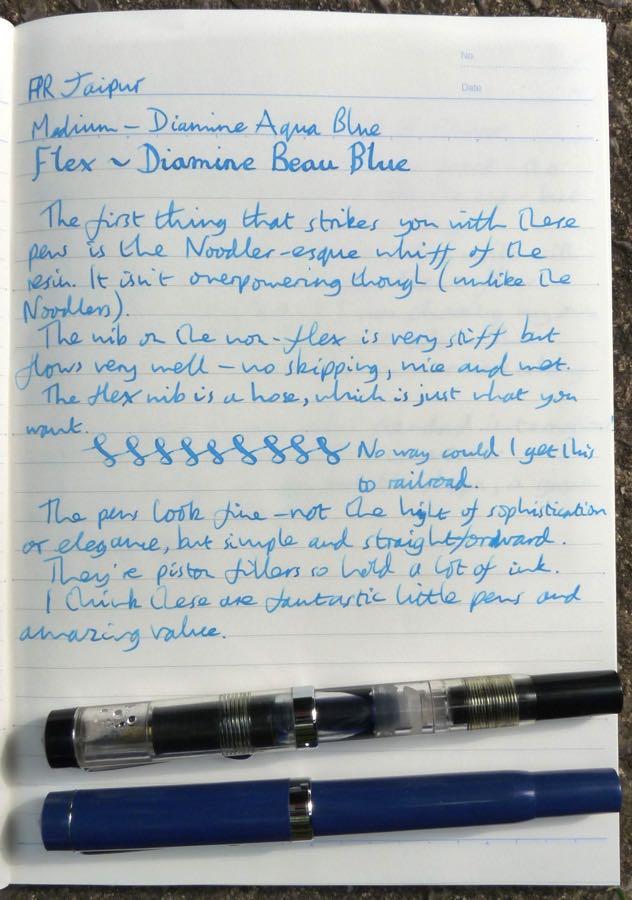 FPR Jaipur handwritten review