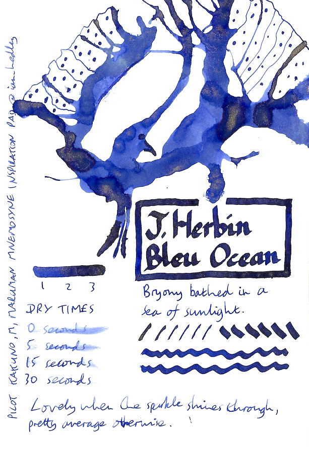 J Herbin 1670 Bleu Ocean Inkling