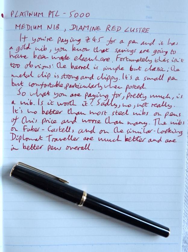 Platinum PTL-5000 handwritten review