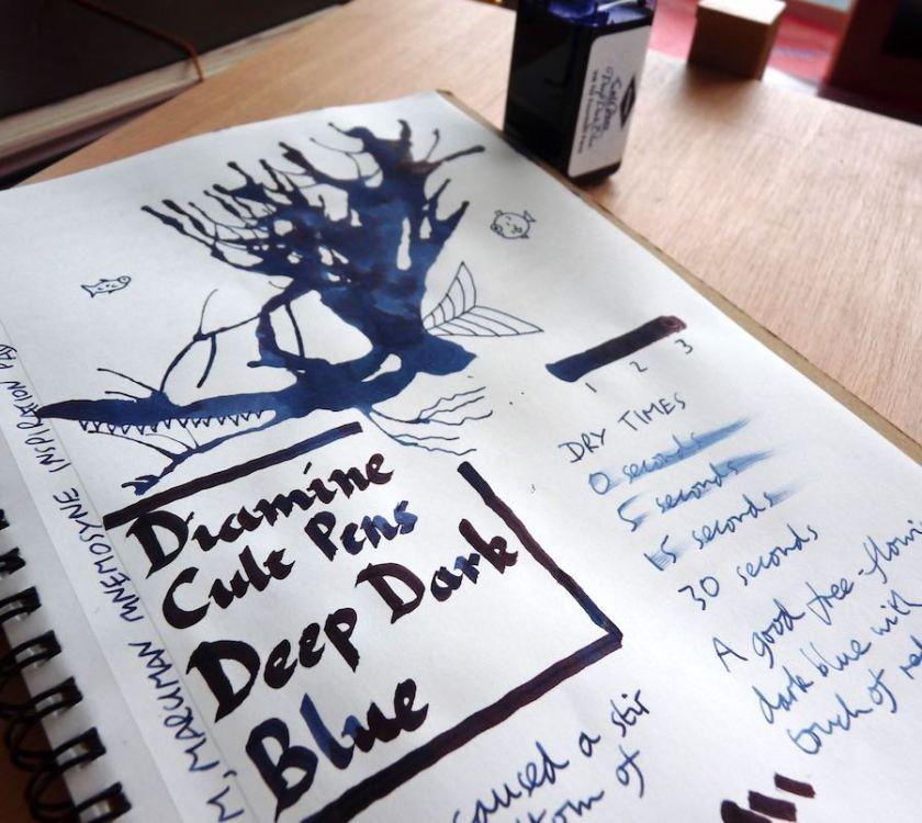 Diamine Cult Pens Deep Dark Blue ink review