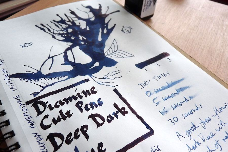Diamine Cult Pens Deep Dark Blue ink review