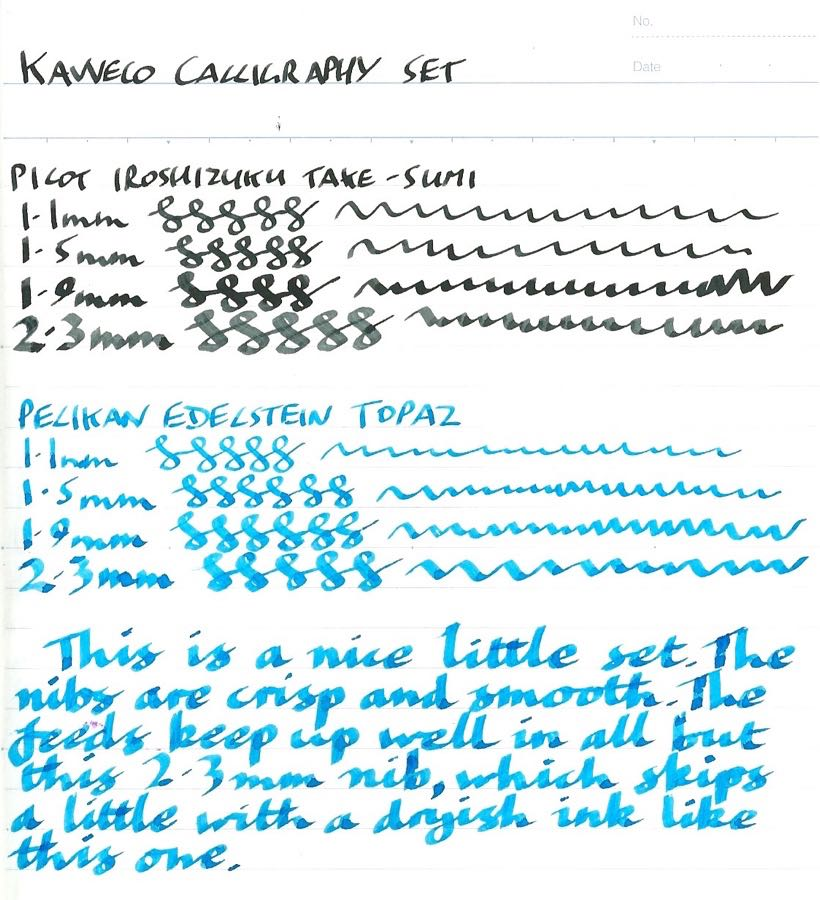 Kaweco Calligraphy Set different inks