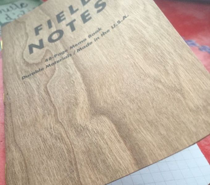 Field Notes Cherry Graph front cover bending