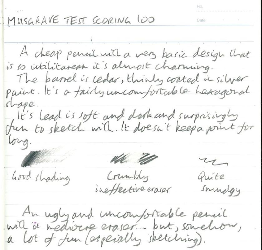 Musgrave Test Scoring 100 handwritten review