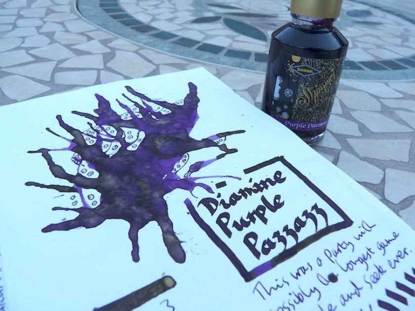 Diamine Purple Pazzazz ink review