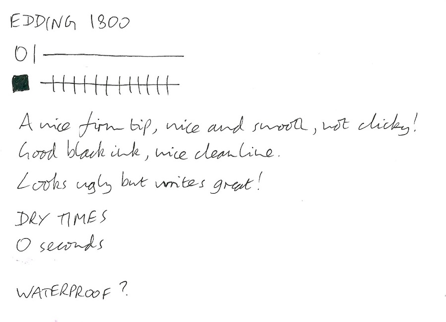 Edding 1800 handwritten review
