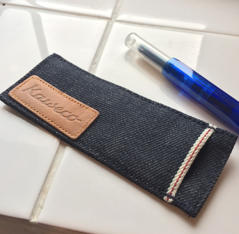 Kaweco Denim Pouch pen capped