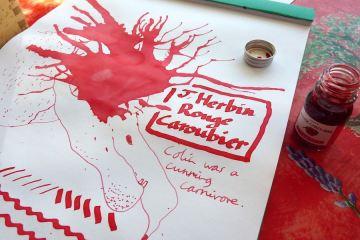 J Herbin Rouge Caroubier ink review