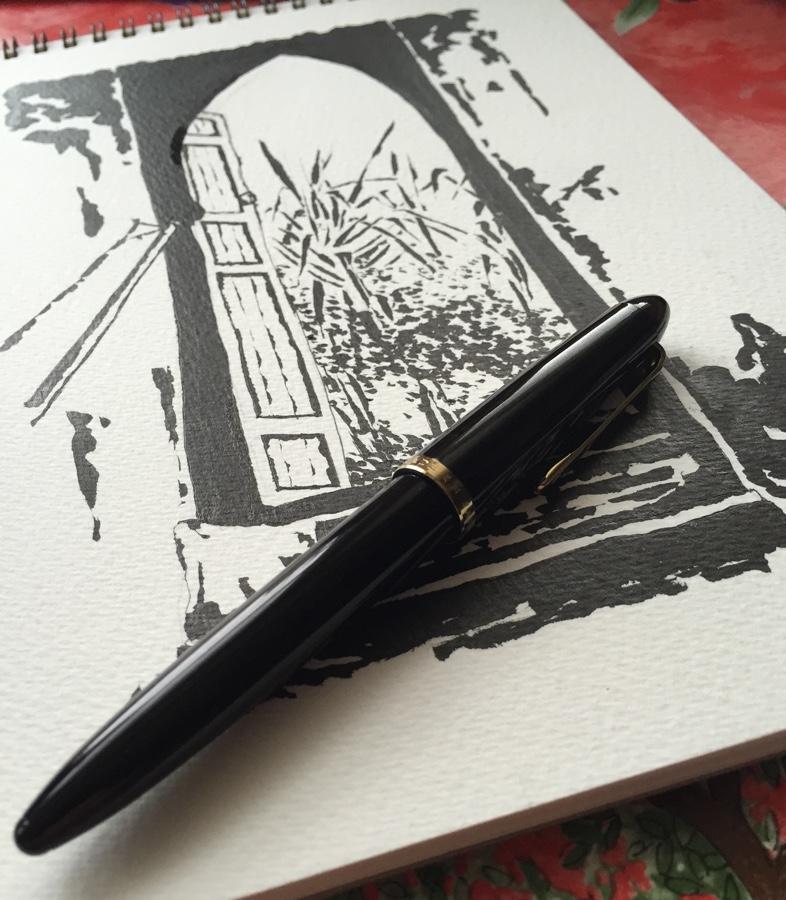 Sailor 1911 Brush Pen capped
