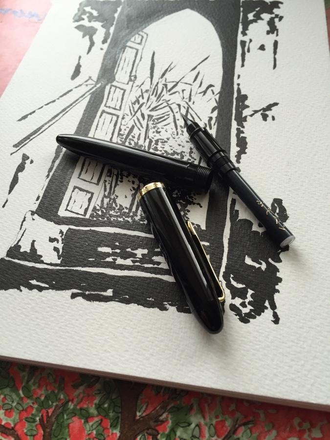 Sailor 1911 Brush Pen taken apart