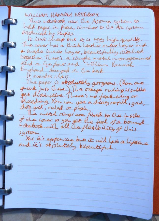 William Hannah handwritten review
