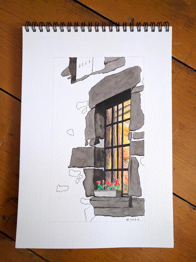 Bright window in Europe