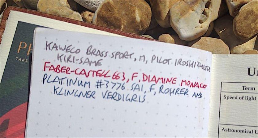 Back Pocket Notebook ink test front